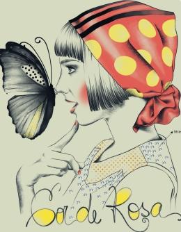 316 - Menina Lenço e Borboletas